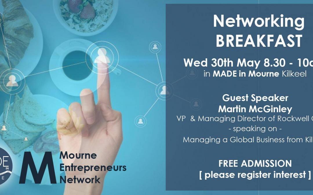 Mourne Entrepreneur Network – Networking Breakfast